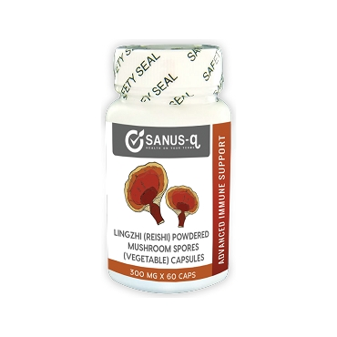 Lingzhi Reishi mushroom spores powdered (vegetable) capsules - 300 mg | SANUS-q